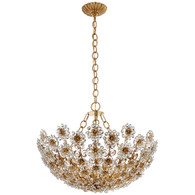 Claret Short Chandelier Finish: Gilded