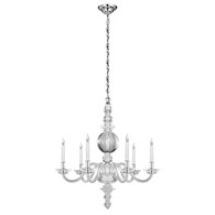 George II Large Chandelier Finish: Polish Nickel