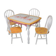 Vintage Play Table and Chair Set: Elephants on Parade