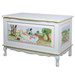 French Toy Chest Finish: Antico White Hand Painted Motif: Alice in Wonderland