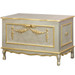 French Toy Chest Finish: Silver Gilding Trim Out: Gold Gilding Appliqued Moulding Option: AFK Standard Moulding in Gold Gilding