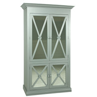 Regency Armoire Finish: Metallic Silver  Knobs: Wood finished in Metallic Silver