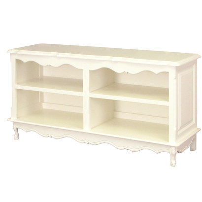 French Double Bookcase Finish: Antico White