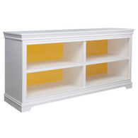London Bookcase Finish: Antico White Interior Base Finish: Custom Yellow
