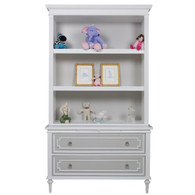 Marcheline Bookcase Body Finish: Snow Accent Color: Dior Dray Upgraded Knobs: Polish Nickel #1