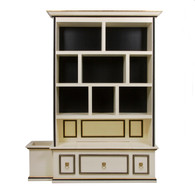 McGraw Bookcase Body Finish: Antico White Accent Color: Black Trim Out: Gold Gilding Upgraded Accent Knobs: Lion Head Pull