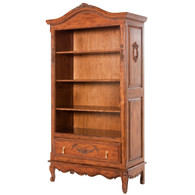 Tall French Bookcase Finish: Chateau Appliqued Moulding Option: AFK Standard Moulding in Chateau Upgraded Knobs: Polish Brass Tassel # 1