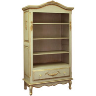 Tall French Bookcase Finish: Versailles Green Appliqued Moulding Option: AFK Standard Moulding in Versailles Green Knobs: Glass Knobs with Gold Base