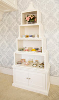 Pagoda Bookcase Finish: Antico White