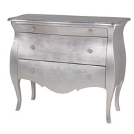 Capri Chest Finish: Silver Gilding Upgraded Knobs: Polished Nickel Knob# 3