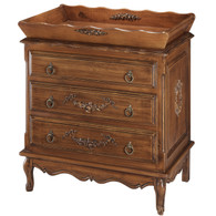 French Chest and Tray Finish: Chateau Appliqued Moulding Option: AFK Standard Moulding in Versailles Blue Upgraded Knobs: Brass Knob #5 Comes with French Chest, Changer Tray, Pad and Terry Cover