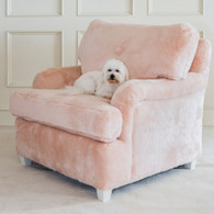 Fur Chair Fabric: AFK Pink Fur Feet Finish: Whisper