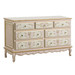 French Dresser Finish: Pink / Linen / Gold Hand Painted Motif: Verona Knobs: Glass Knobs with Gold Base