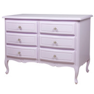 Gabriella Chest Finish: Lilac Upgraded Knobs: Polish Nickel Knobs # 2