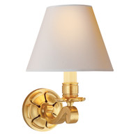 Bing Single Arm Sconce Finish: Natural Brass