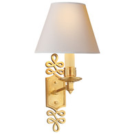 Ginger Single Arm Sconce Finish: Natural Brass