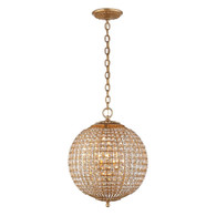 Renwick Small Sphere Chandelier Finish: Gilded