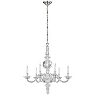 George II Large Faceted Chandelier Finish: Polish Nickel