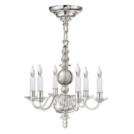 George II Mini Chandelier Finish: Polish Nickel