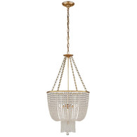 Jacqueline Chandelier Finish: Hand-Rubbed Antique Brass Shade: Clear Glass