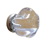 Glass Knob Silver Base