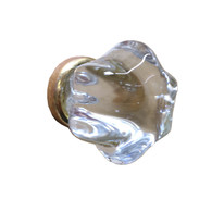 Glass Knob Gold Base