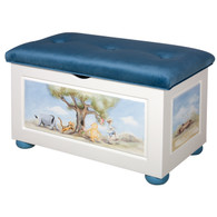 Toy Chest Finish: Whisper Hand Painted Motif: Classic Pooh Fabric: Custom Blue