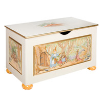 Toy Chest Finish: Antico White Hand Painted Motif: Classic Enchanted Forest