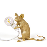 Gold Mouse Lamp Sitting