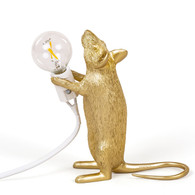 Gold Mouse Lamp Standing