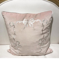 Ribbons Embroidered Toss    Pillows