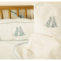 Embroidered Bunny Crib Bedding Set