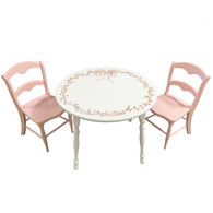 Ribbons and Roses Round Play Table and Chairs