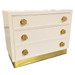 Parry Chest Body Finish: Whisper Knobs: Large Polish Brass Flower Knobs Bass Cover: Brass