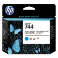 HP 744 Photo Black and Cyan Designjet Printhead - F9J86A