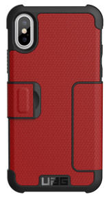 UAG Metropolis Folio Wallet Case iPhone X - Magma