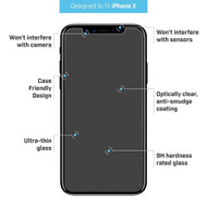 BodyGuardz Pure 2 Tempered Glass iPhone X