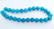 16mm Round Sleeping Beauty Turquoise Beads