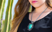Baja Turquoise Pendant w/Sterling Silver