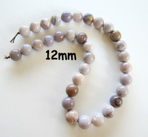 Lavender Agate(Mexico) 12mm Rounds LARD1