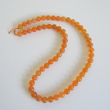 Orange Chalcedony(Namibia,Africa)  8mm Rondell Natural Color