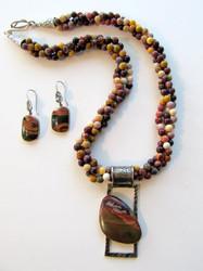 Mookite Bead Necklace w/Pendant & Earrings  MNP1