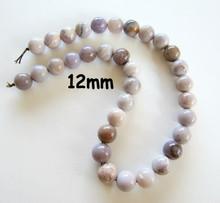 Lavender Agate(Mexico) 12mm Rounds LARD1
