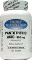 Trust Nutrition Pantothenic Acid 100 Tablets