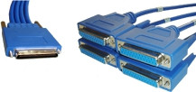 CAB-HD4-232FC - High Density 4-port EIA-232 DCE DB25 female 10ft Cable