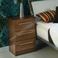 Welcome Furniture - Sherwood - 3 Drawer Bedside Locker - Choice of Walnut, Maple, Oak or Porcelain Matt Finish