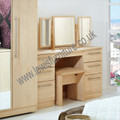 Welcome Furniture - Sherwood - Kneehole Dressing Table - Choice of Walnut, Oak, Grey or Porcelain Matt Finish
