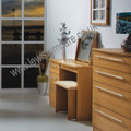 Welcome Furniture - Sherwood - 3 Drawer Dressing Table - Choice of Walnut, Oak, Grey or Porcelain Matt Finish
