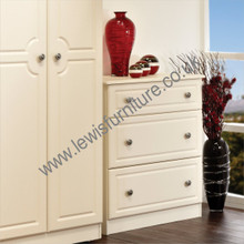 Welcome Furniture Pembroke 3 Drawer deep Cream