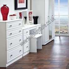 Welcome Furniture Pembroke 4 Drawer Deep Chest White